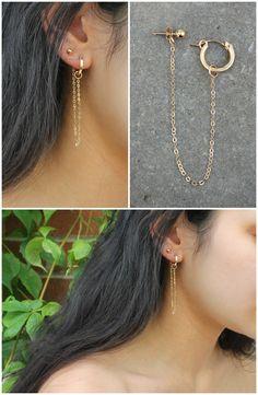 Hard-Working Ear Cuff Earrings Antique Silver Cartilage Dangle Chain Earrings Set For Women Exquisite Earrings Stud Earrings