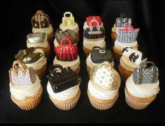 Designer bags cupcakes