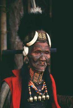 Photograph of Hamwang, an elder   of the Ang clan of Konyak Naga, M  on village, Nagaland. August 1991.   | © Vibha Joshi.