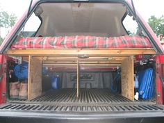 Truck Camping! trucks, life, stuff, outdoor, surviv, truck camper ideas, ideas camping, truck camping ideas, thing