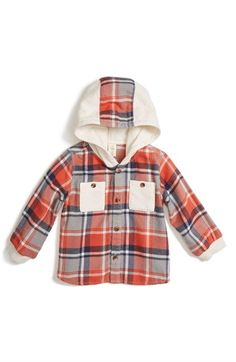 Free shipping and returns on Tucker + Tate Hooded Flannel Shirt (Baby Boys) at Nordstrom.com. Contrast chest pockets further the casual-cool vibe of a comfy, hooded shirt in soft, midweight flannel.