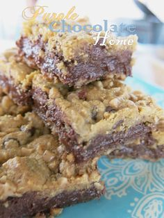 Fudgy Chocolate Chip Toffee Bar