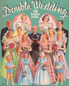 3472 Uncut 1939 Double Wedding Paper Dolls Original | eBay
