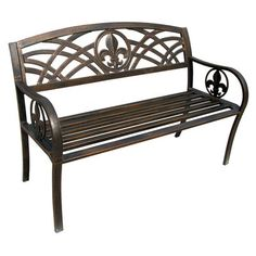 Fleur De Lis Living Michelle Metal Garden Bench