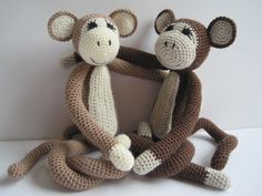Monkeys - pattern from 'crocheted wild animals' Vanessa Mooncie