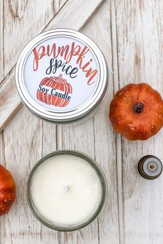 Want to learn how to make easy homemade soy candles? This Pumpkin Spice Essential Oil Candle Recipe is the perfect scented soy candle for FALL! Homemade Soy Candles, Diy Candles Scented, Essential Oil Candles, Essential Oils, Diy Candles Video, Pumpkin Spice Candle, Pumpkin Candles, Natural Candles, Candlemaking