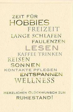 Ruhestandskarte ZEIT für Hobbies...: Amazon.de: Bürobedarf & Schreibwaren