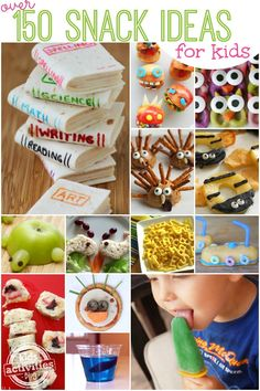 More than 150 snack ideas for kids that look adorable, too! Instead of doing a craft with kids this summer, make one of these snacks with kids instead - so fun!