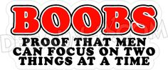funny boob logos | Our Decals / Stickers can go on Cars, Windows, Boats, ATV's, Hard Hats ...
