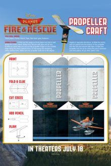 Propeller craft | Planes Fire and Rescue Free Disney Printables | SKGaleana