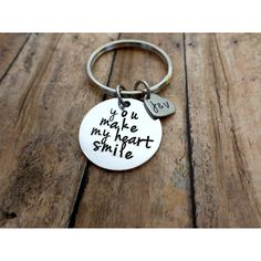 You Make My Heart Smile Husband, Boyfriend Gift, Keychain Gift,... ($20) ❤ liked on Polyvore featuring men's fashion and men's accessories