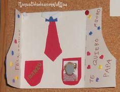 Manualidades con mis hijas: Camisa-Tarjeta para el Día del Padre. Kids Crafts. Father's day. shirt card