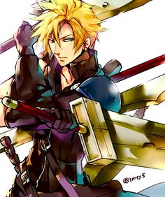 Final Fantasy Collection, Final Fantasy Art, Fantasy Series, Video Game Characters, Fictional Characters, Cartoon Boy, Cloud Strife, Anime Love, Cute Boys