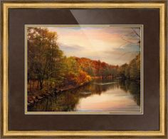 """""""Sunset Pond"""" by Jessica Jenney, Bronxville, NY //  // Imagekind.com -- Buy stunning fine art prints, framed prints and canvas prints directly from independent working artists and photographers."""