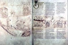 About fifty manuscripts with rustic capitals survive, including four copies of works by Virgil (including the Vergilius Vaticanus and the Vergilius Romanus), one copy of a work by Terence, and one of a work by Prudentius.