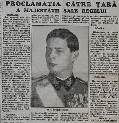 Seara zilei de 23 August 1944: Proclamația către Țară a Majestății Sale Regelui Mihai I The evening of August 23rd, 1944: the Proclamation of HM King Michael I of Romania, addressed to his country