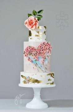 Heart of an Angel - Sugar Art for Autism 2017 - Cake by Jeanne Winslow