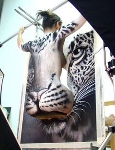 illusion body art | Let's take a behind-the-scenes look…