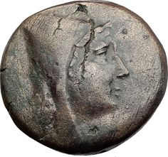 AMISOS in PONTUS 120BC Mithradates VI Quiver Authentic Ancient Greek Coin i64521