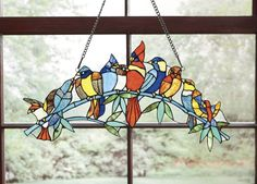 Stained Glass Birds Window Hanging