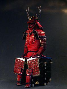 Samurai war armor for Yukimura Sanada, 「赤備え」と称される。武田24将山形昌景~真田幸村~徳川四天王・井伊家と引き継がれる。