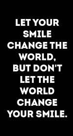 Smile change the world – motivational quotes
