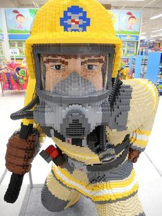 Firefighter made of legos