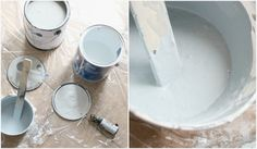 Make your own chalk paint.  The recipe calls for 1 cup of paint and 2 tablespoons of unsanded tile grout.