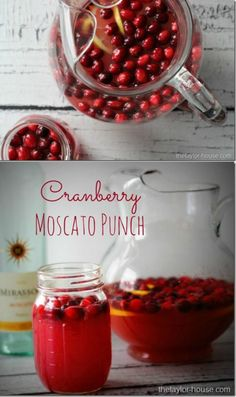 Cranberry Moscato Punch by The Taylor House