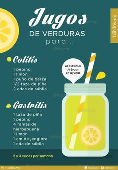 JUGO DE VERDURAS PARA COLITIS/GASTRITIS