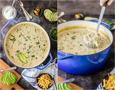 CREAMY WHITE CHICKEN CHILI RECIPE WITH CREAM CHEESE is the ultimate comfort food! The best White Chicken Chili recipe out there! This Cream Cheese Chicken Chili is loaded with everything good and so comforting on a cool night. We top ours with avocado, jalapenos, sour cream, and more!