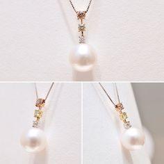 白蝶真珠とダイヤモンドのペンダントエレガントなデザインが素敵クリスマスプレゼントにも喜ばれそうですね#gift #銀座watatsumi #メルサ #銀座 #ginza #pearl #真珠 #パール #jewelry #necklace #diamond #ダイヤモンド #プレゼント #クリスマスプレゼント
