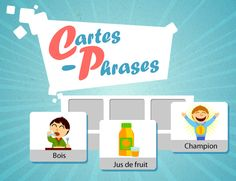 Cartes-phrases Core French, Phrases, France, Online Games, Personal Care, Kids Learning, Speech Language Therapy, Teaching, Nursery School