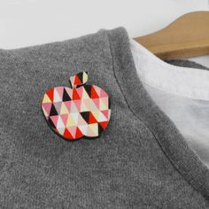 Geometric Brooch Apple
