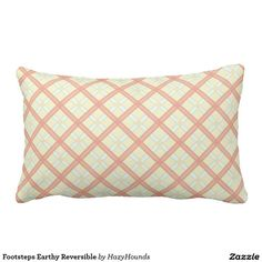 Footsteps Earthy Reversible Lumbar Pillow
