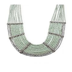 Multistrand Mint Green Bead Fashion Necklace