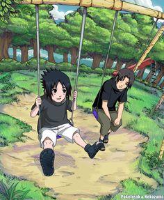 Itachi and Sasuke from Naruto.