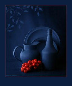 Poetic Projection by Rakesh Syal Love Blue, Red And Blue, Dark Red, Apple Painting, Fade To Black, Red Accents, Red Berries, Still Life Photography, Shades Of Red