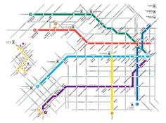Das U-Bahnnetz der Stadt Buenos Aires, als Subte bekannt, besteht aus sechs Linien, die auch Teil eines Netzwerks von S-Bahn mit zwei Linien, die Premetro, zusammen fahren.