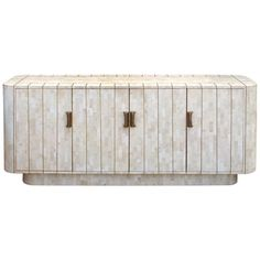 Exceptional Modernist Tessellated Stone with Brass Sideboard | From a unique collection of antique and modern sideboards at http://www.1stdibs.com/furniture/storage-case-pieces/sideboards/