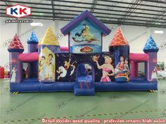 1992.00$  Buy now - http://alio2m.worldwells.pw/go.php?t=32546693067 - Kids play cartoon type joyful amusement park rides inflatable house princess inflatable amusement park for playground games