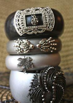 Repurpose bangle bracelets and vintage jewelry  #VintageJewelry