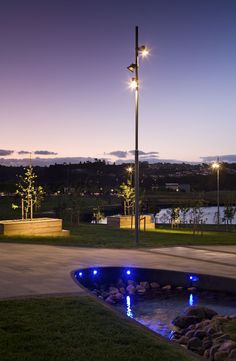 Albany Lakes Civic Park In New Zealand Lighting Designers Light Works