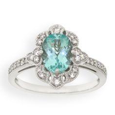 Paraiba Tourmaline & Diamond Ring 18K