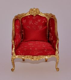 French Christmas Chair & Pillow by Maritza Moran