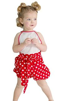 Baby Girls Onepiece Lace Flower Polka Dot Ruffle Romper 7006M * Click image for more details.