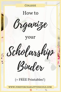 How to organize the scholarship binder (plus five free printables) SCHOLARSHIPS … – Earn College Scholarships Financial Aid For College, College Planning, Education College, College Savings, Music Education, School Scholarship, Scholarships For College, College Students, Student Loans