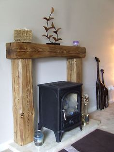 Details about SOLID PINE WOOD OVER MANTLE FIREPLACE beam fire surround fire…