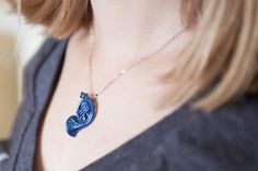 Blue French Horn Necklace: This way, not even Ted can steal it!   How I Met Your Mother   Ted and Robin 4ever