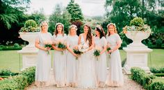 Neutral bridesmaids dresses inspiration. See more from this beautiful big day on thevow.ie